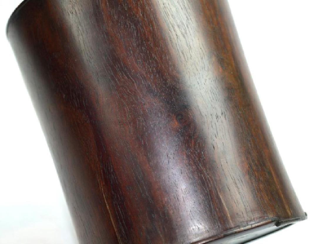 Antique Chinese Black Wood (Zitan) Brush Pot - 3
