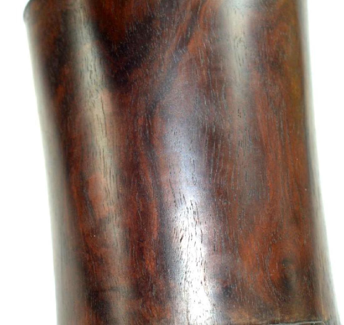 Antique Chinese Black Wood (Zitan) Brush Pot - 4