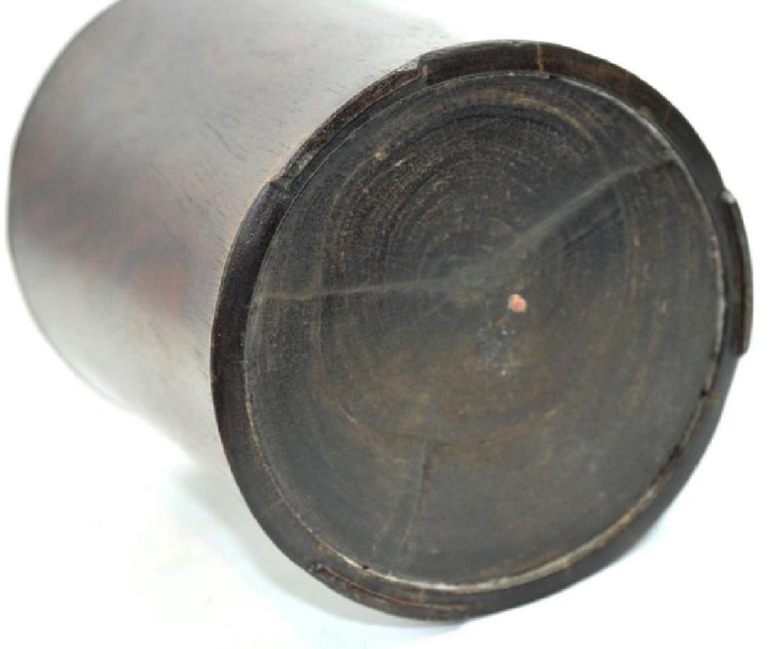 Antique Chinese Black Wood (Zitan) Brush Pot - 6