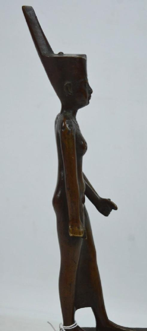 Bronze Egyptian Walking Woman on Stand - 4