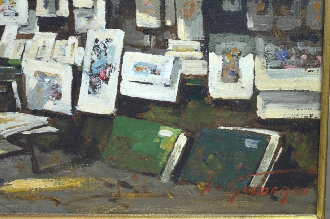 Van Gelderen: Oil on Canvas; Paris Book Stalls - 3