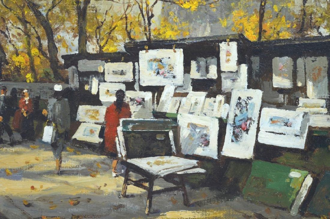 Van Gelderen: Oil on Canvas; Paris Book Stalls - 4