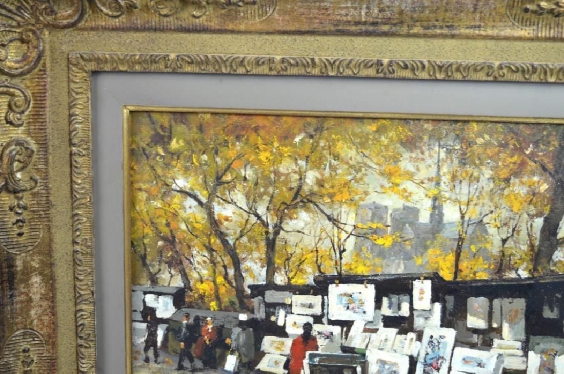 Van Gelderen: Oil on Canvas; Paris Book Stalls - 5
