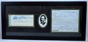 Autographs; Boss Tweed, Slippery Dick Connolly etc