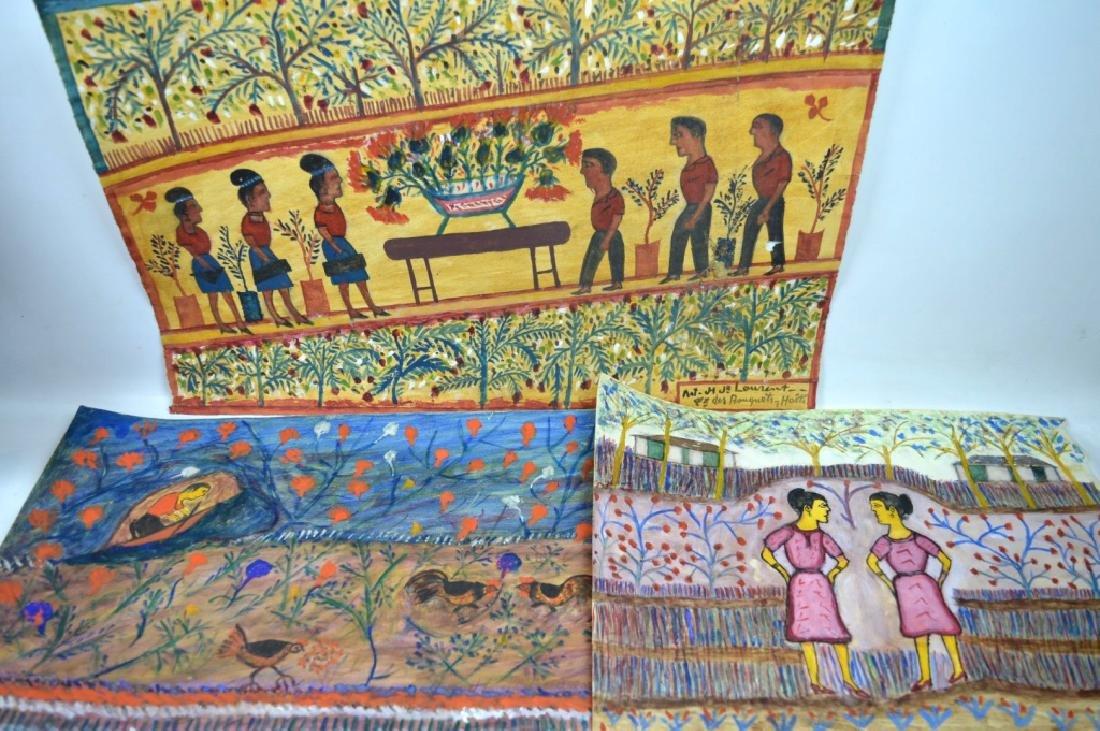 3 - H J Laurent Haitian Watercolors on Paper