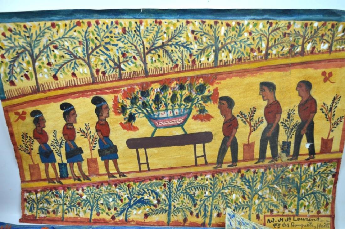 3 - H J Laurent Haitian Watercolors on Paper - 2