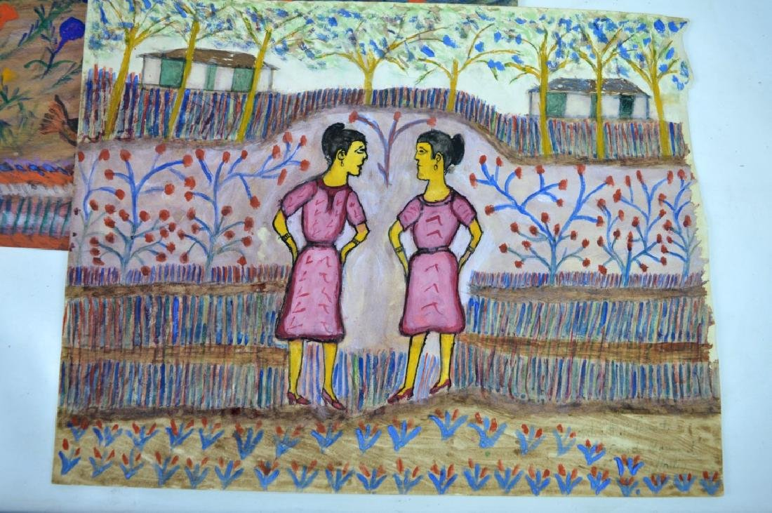 3 - H J Laurent Haitian Watercolors on Paper - 3