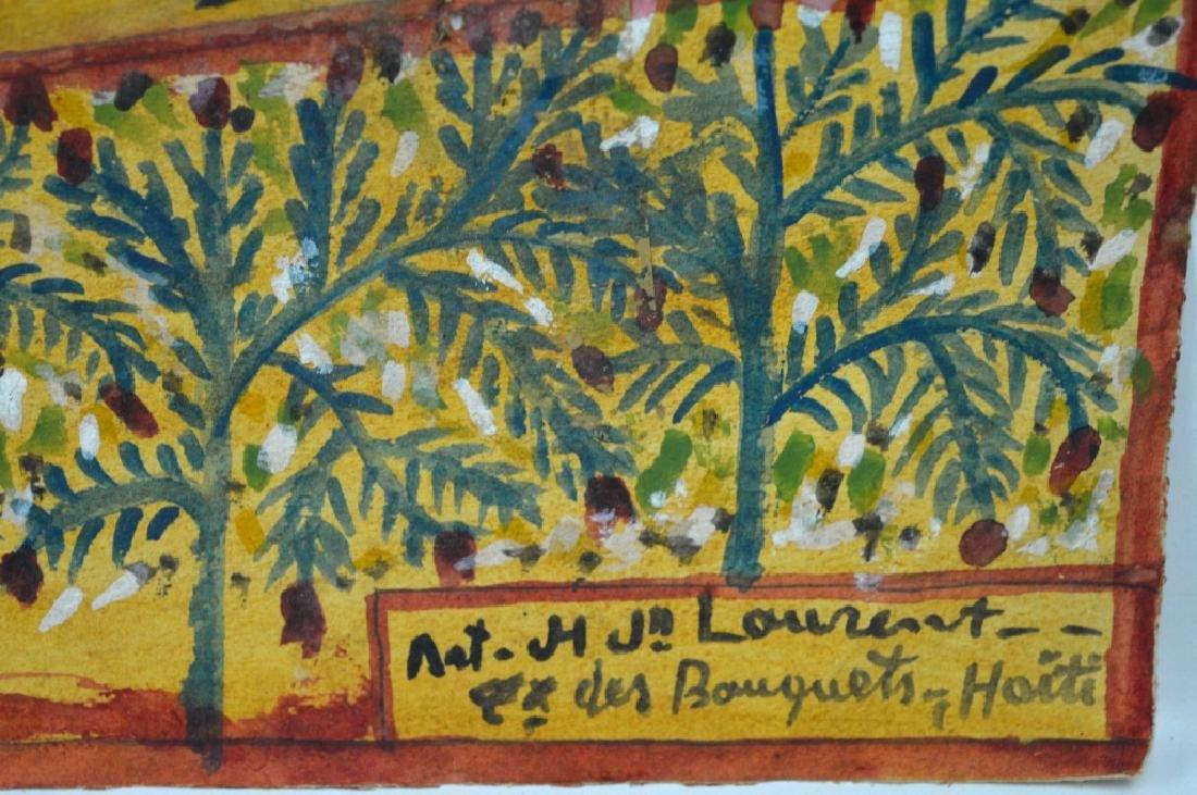 3 - H J Laurent Haitian Watercolors on Paper - 5
