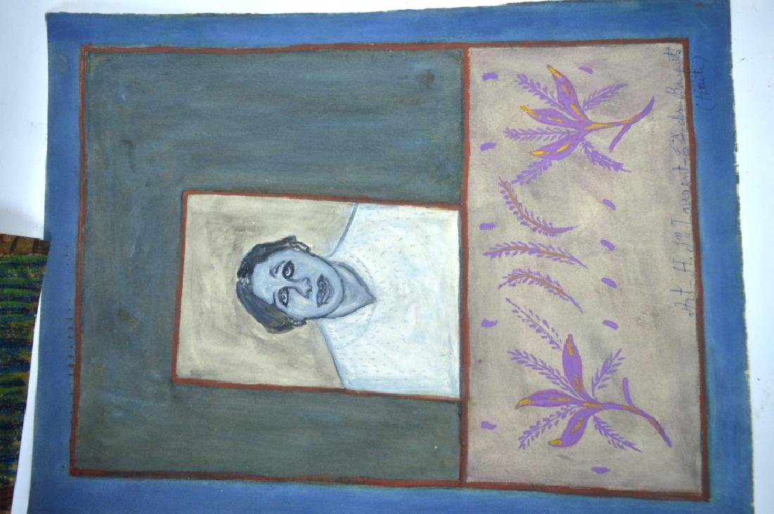 3 - H J Laurent Haitian Watercolors on Paper - 4