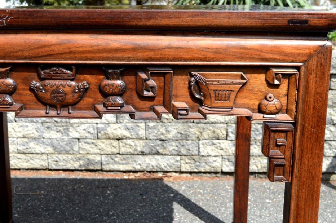 Good Chinese Carved Hardwood Square Table - 3