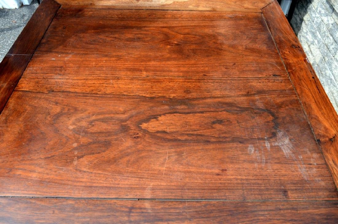 Good Chinese Carved Hardwood Square Table - 4