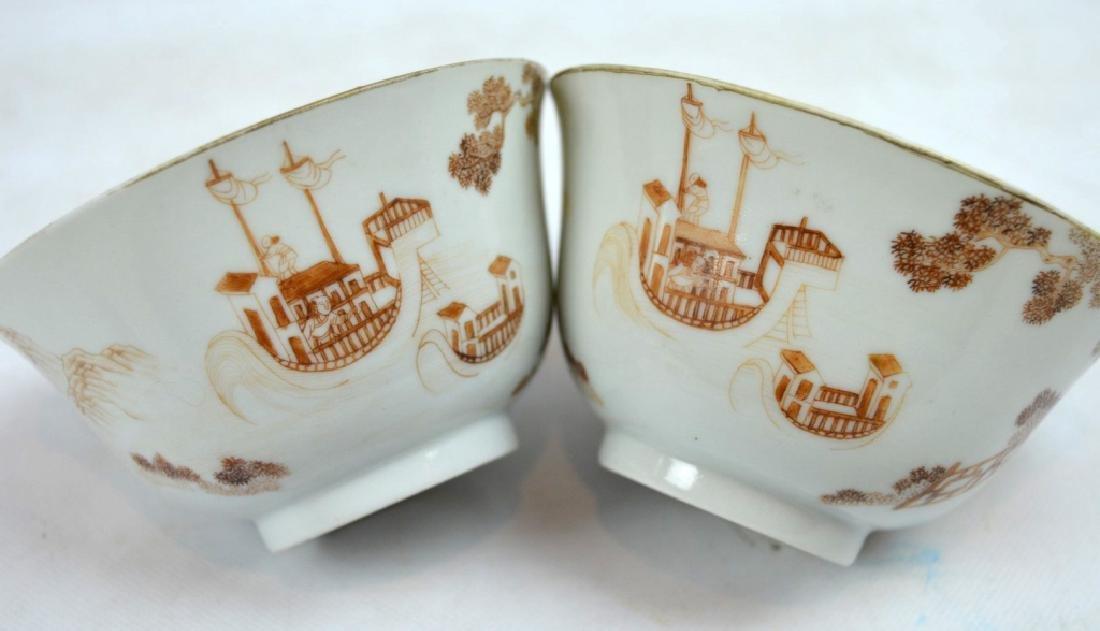 "Pr Jiaqing Porcelain ""Foreigner"" Bowls & Covers - 3"