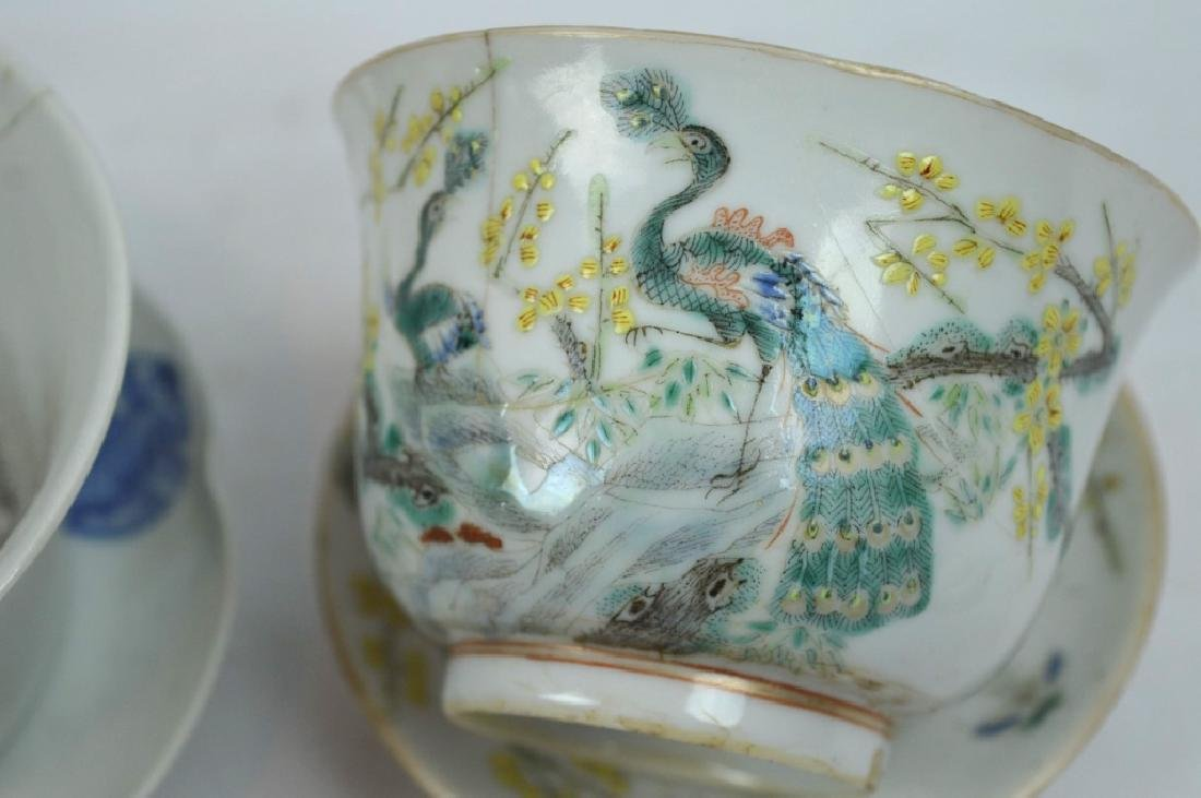 4 - 19th C Chinese Decorated Teacups - 3