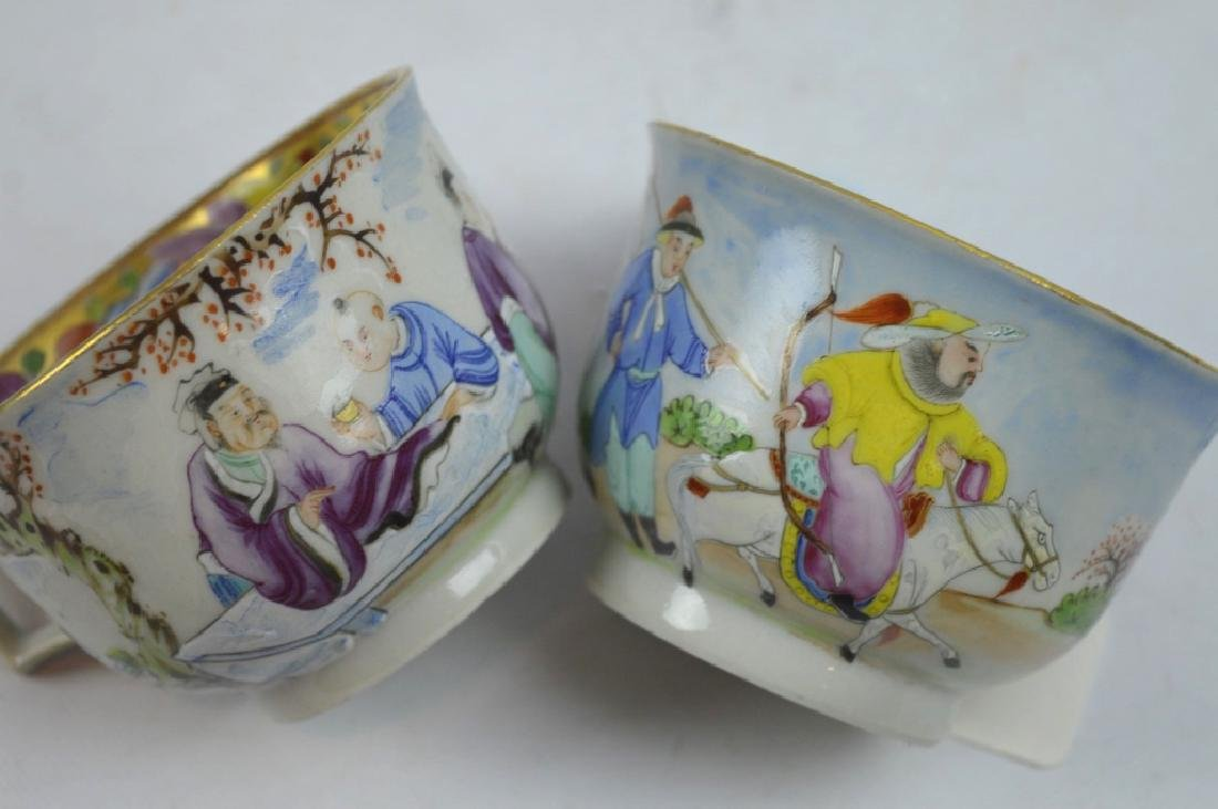 4 - 19th C Chinese Decorated Teacups - 8