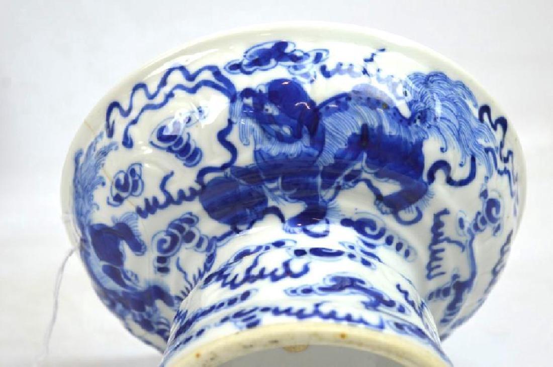 Chinese Underglaze Blue Dragon Plate, Bowl - 6