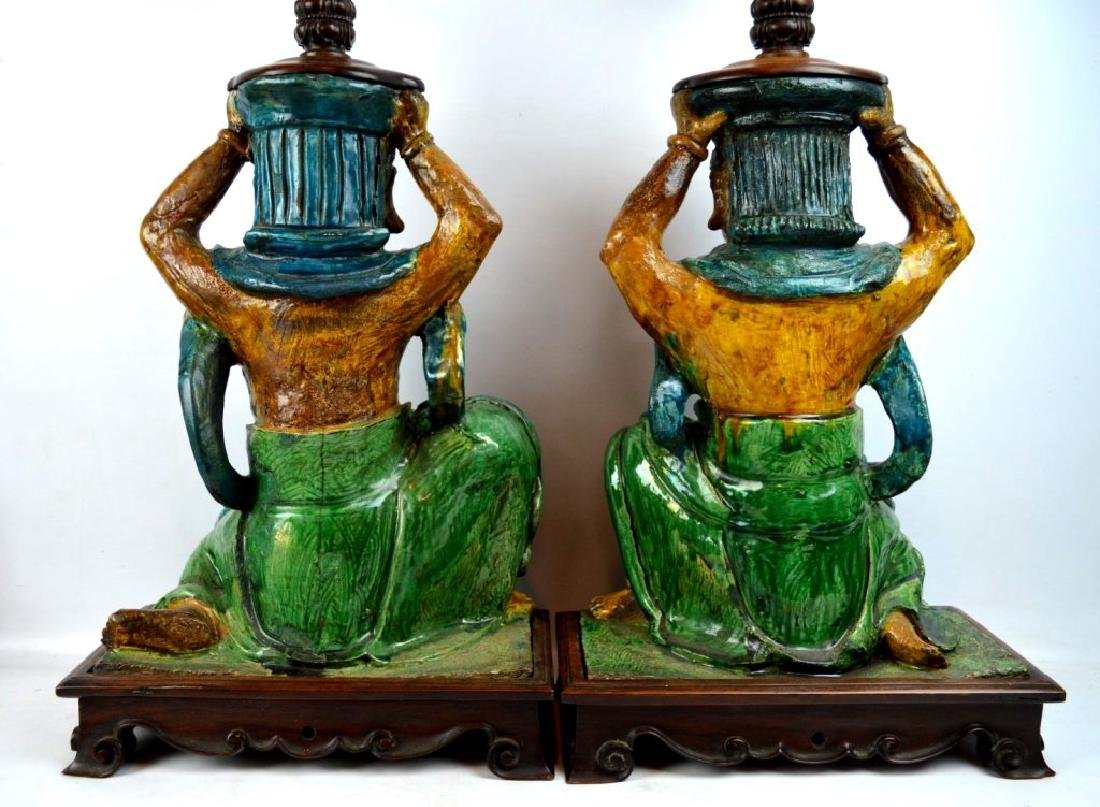 Pr Ming Dynasty Chinese Roof Tile Lamps - 6