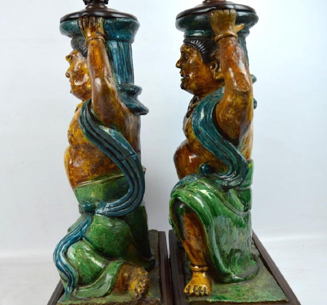 Pr Ming Dynasty Chinese Roof Tile Lamps - 9