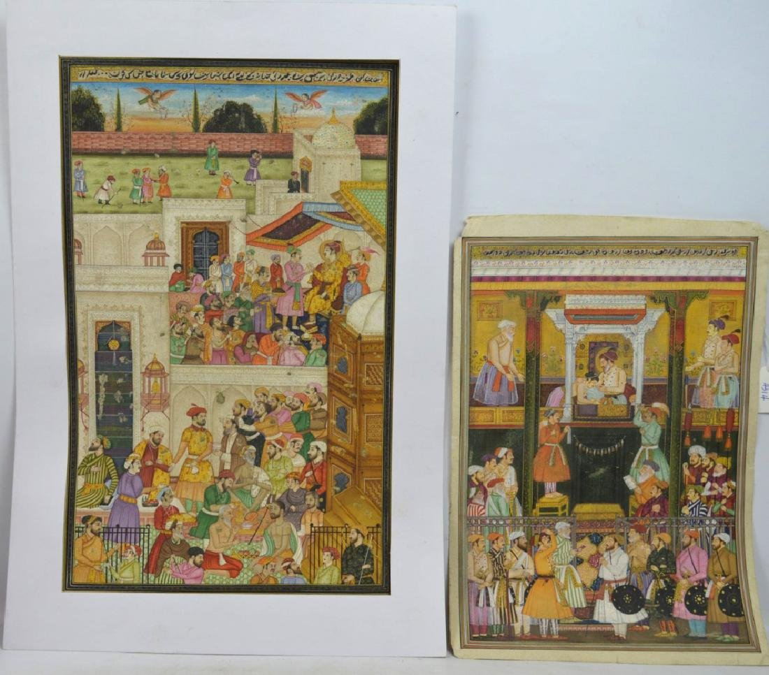 Two Indian or Mughal Miniature Painting