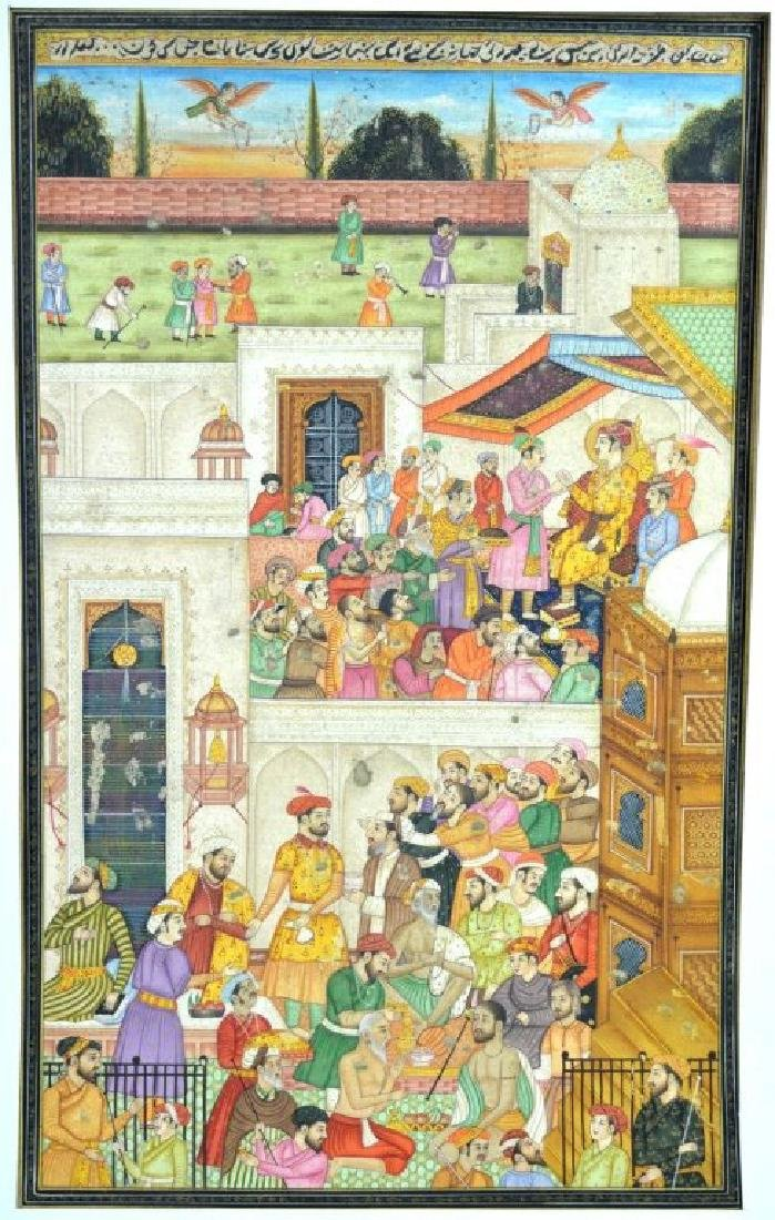 Two Indian or Mughal Miniature Painting - 2