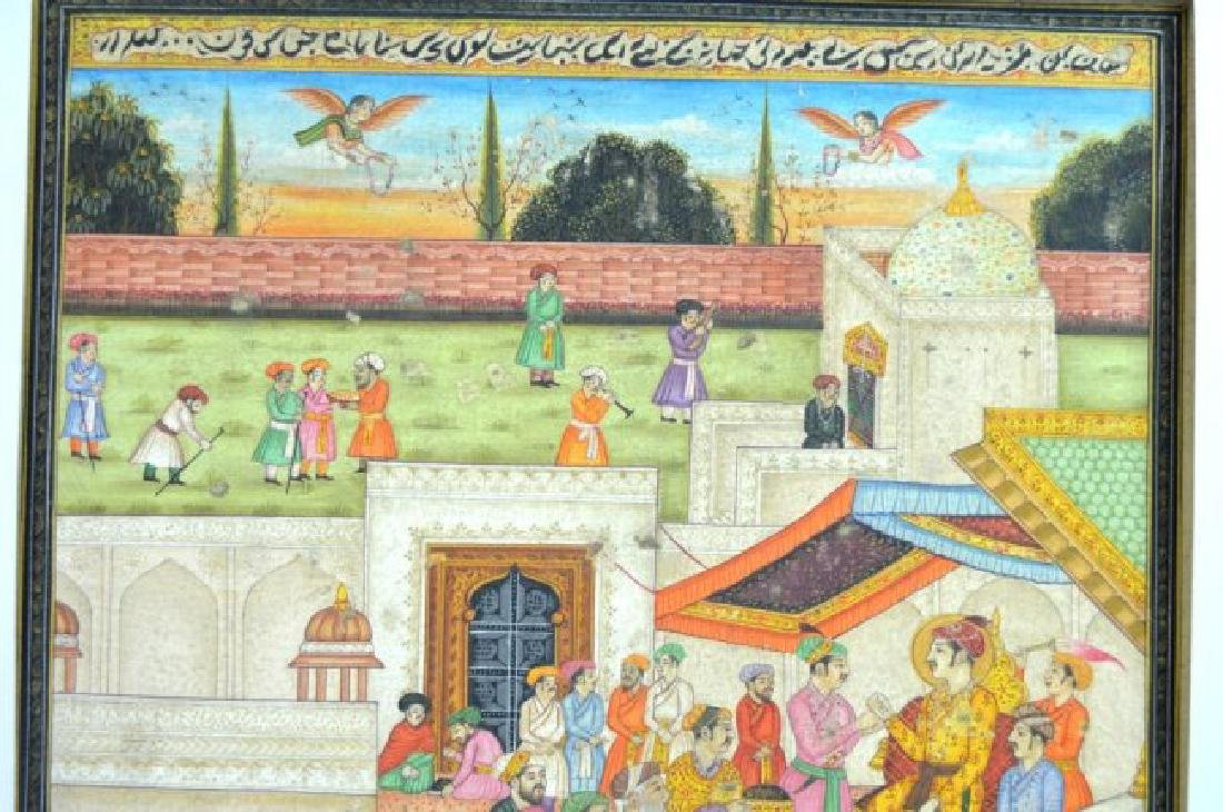 Two Indian or Mughal Miniature Painting - 3