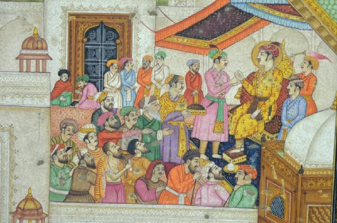Two Indian or Mughal Miniature Painting - 4