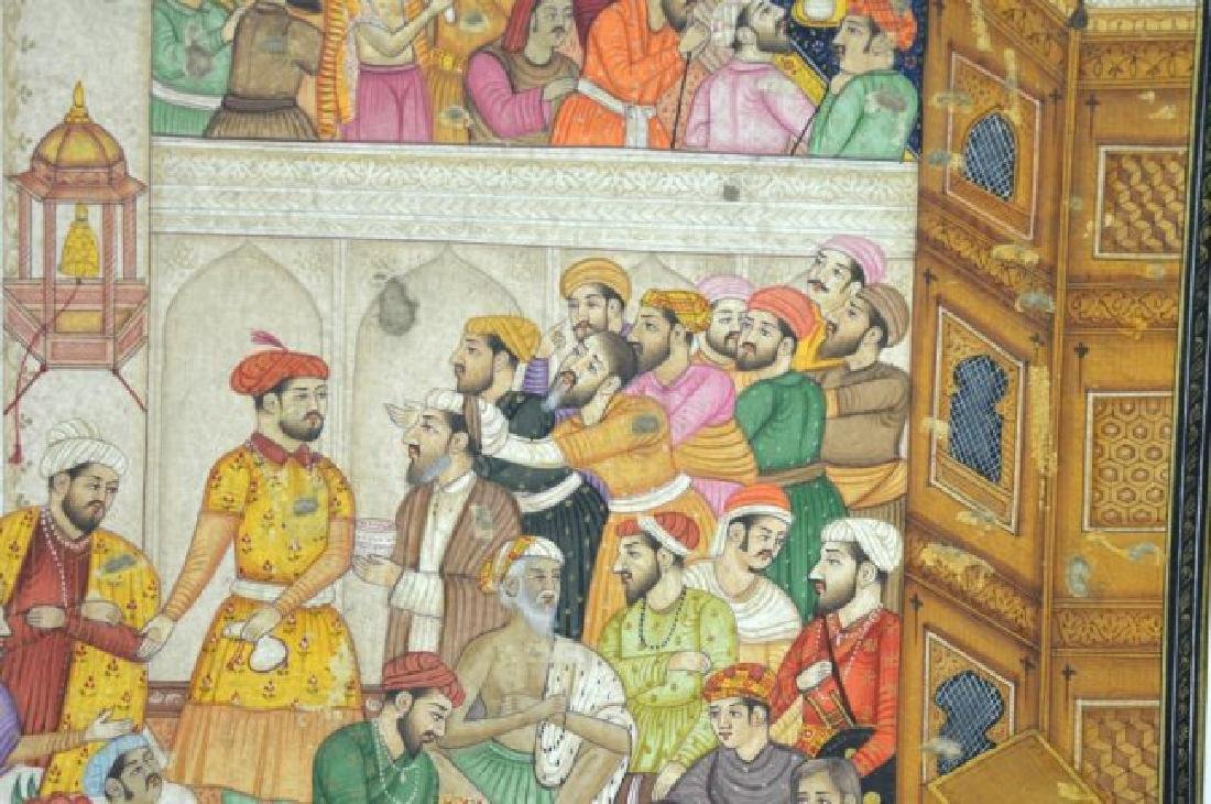 Two Indian or Mughal Miniature Painting - 5