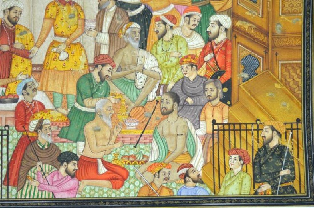 Two Indian or Mughal Miniature Painting - 6
