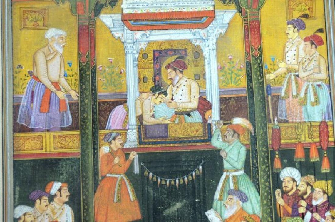 Two Indian or Mughal Miniature Painting - 8