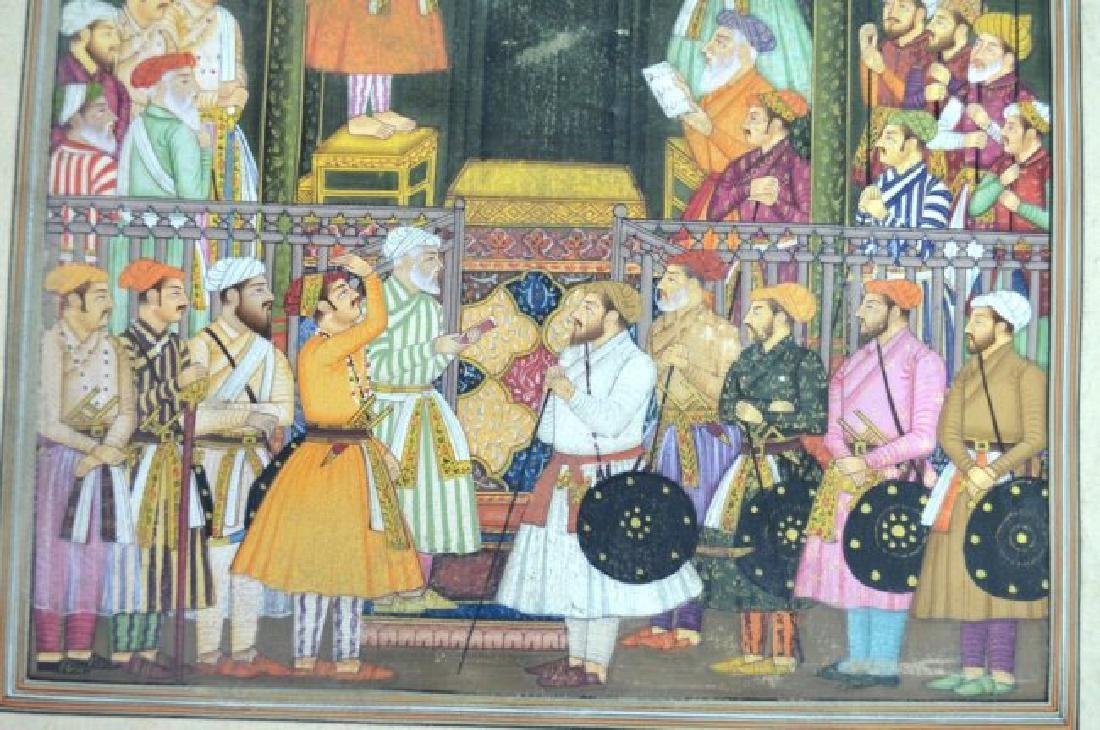 Two Indian or Mughal Miniature Painting - 9