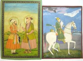 Two Fine Early Mughal Miniature Painting