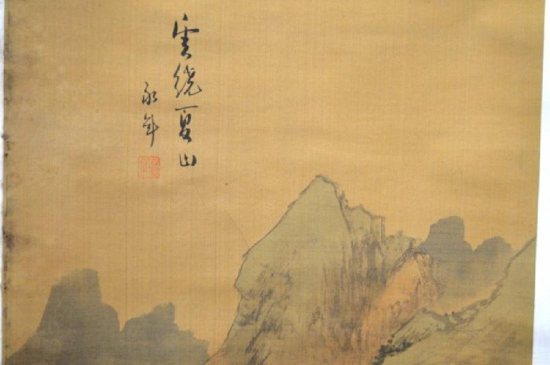 Chinese Landscape Scroll on Silk - 2