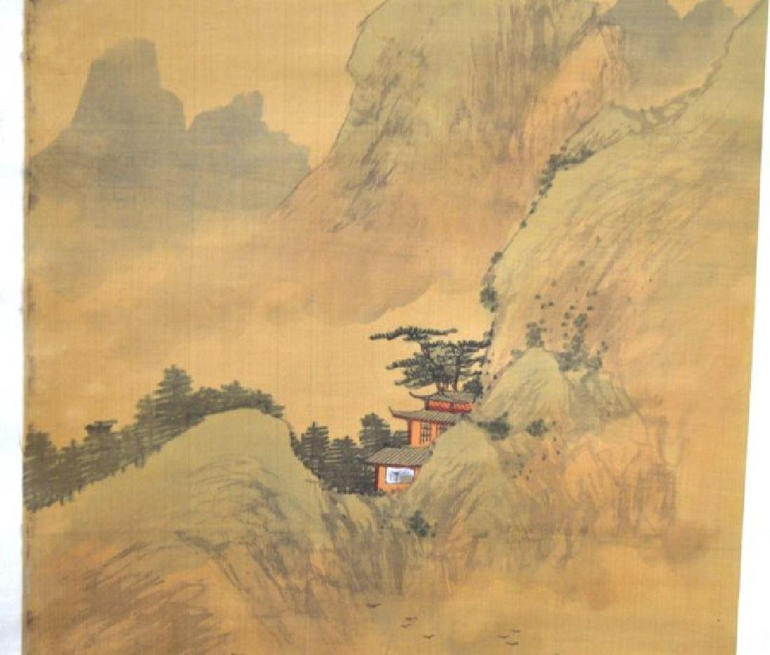 Chinese Landscape Scroll on Silk - 3