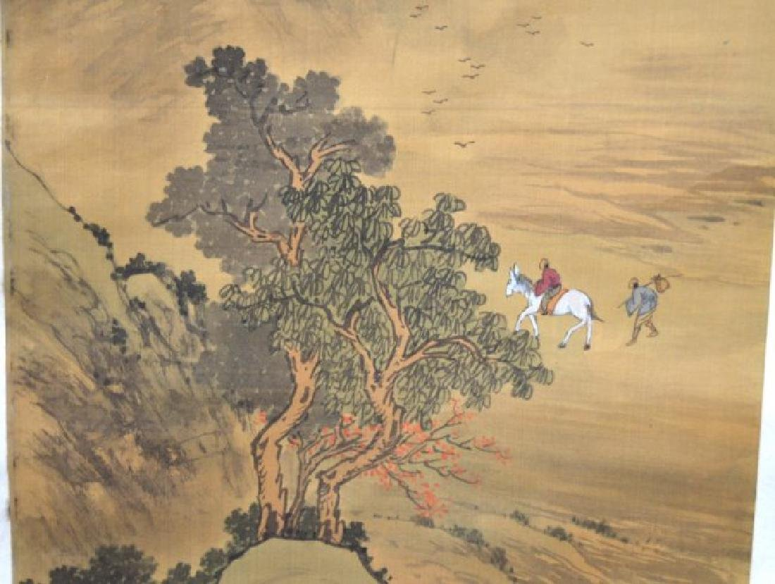 Chinese Landscape Scroll on Silk - 4