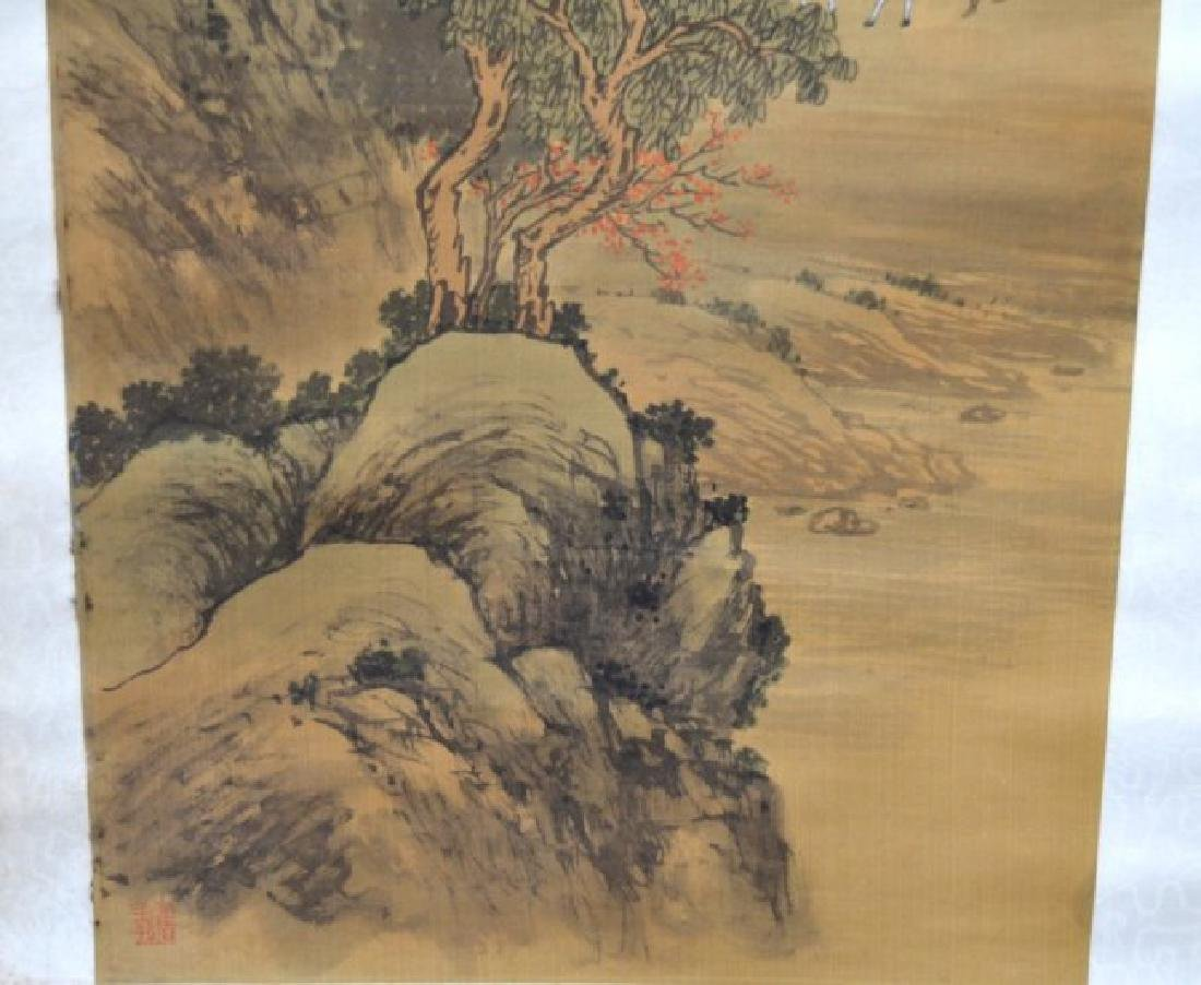 Chinese Landscape Scroll on Silk - 5