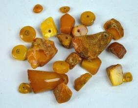 55 Grams Butterscotch Amber Chunks & Beads