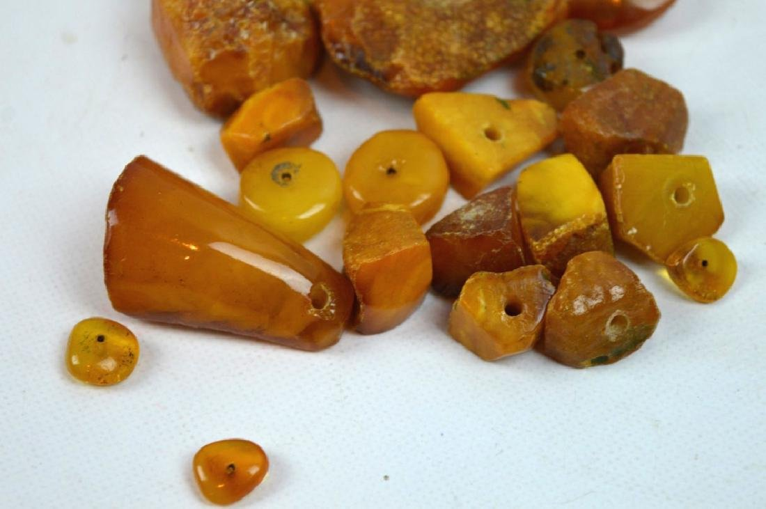 55 Grams Butterscotch Amber Chunks & Beads - 2
