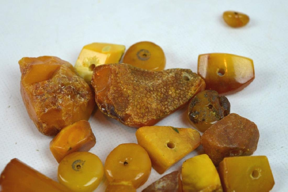 55 Grams Butterscotch Amber Chunks & Beads - 3