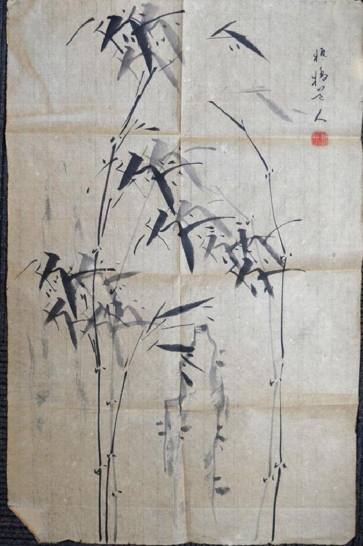 Unmounted Chinese Ink Painting of Bamboo