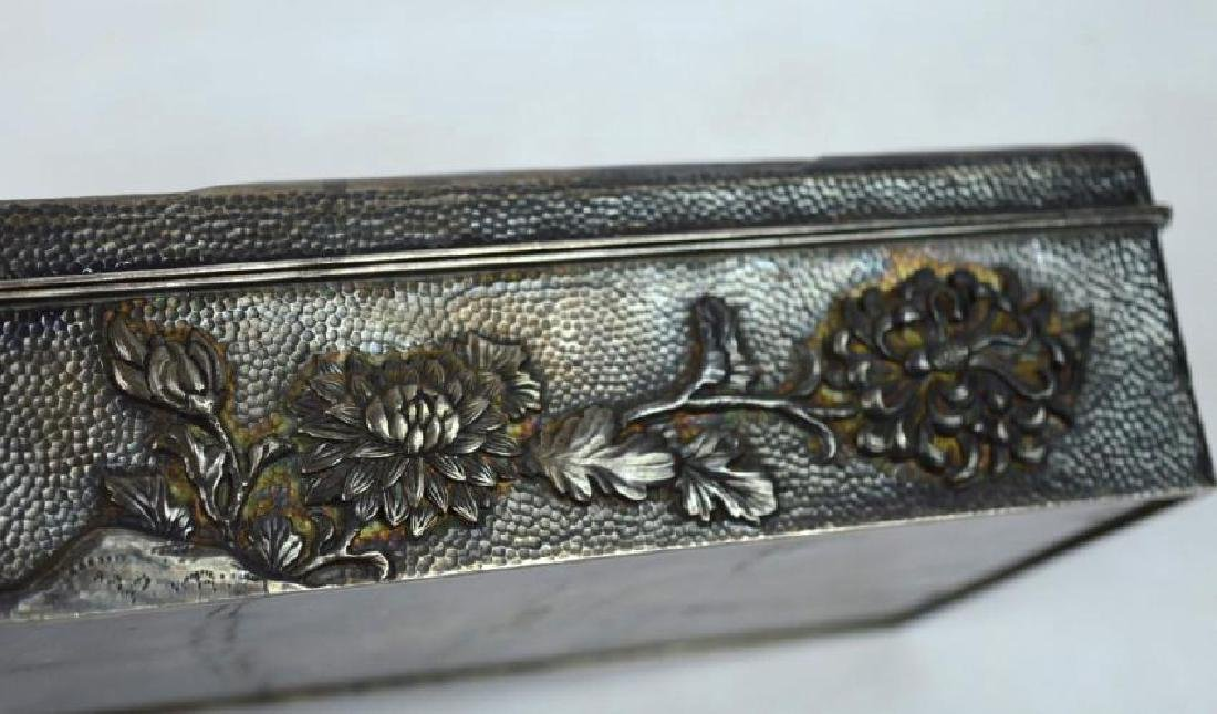 16.2 oz Japanese Silver Chrysanthemum Box - 3