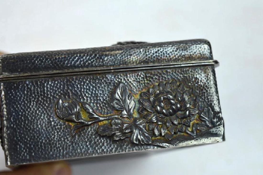 16.2 oz Japanese Silver Chrysanthemum Box - 4