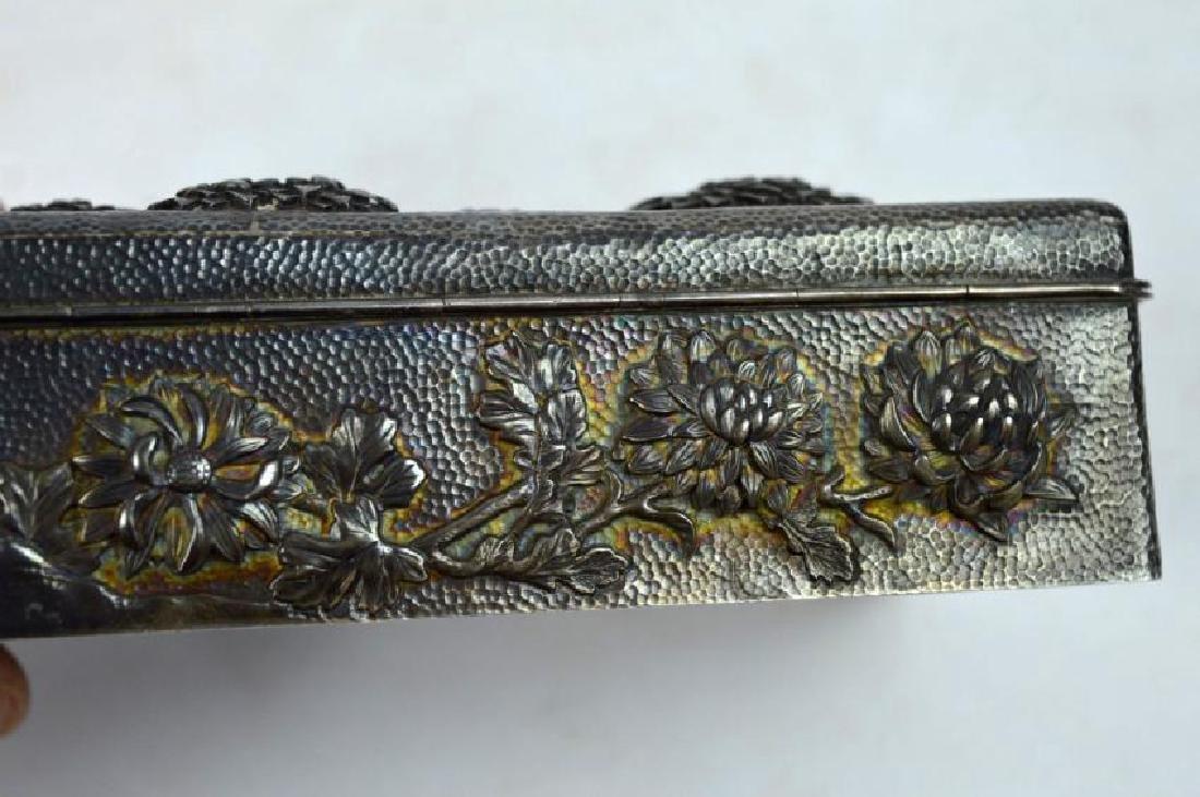 16.2 oz Japanese Silver Chrysanthemum Box - 5