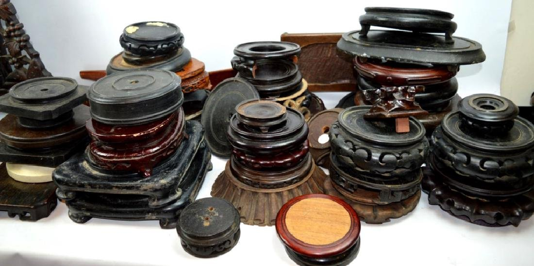 40 Chinese Carved Hardwood Stands