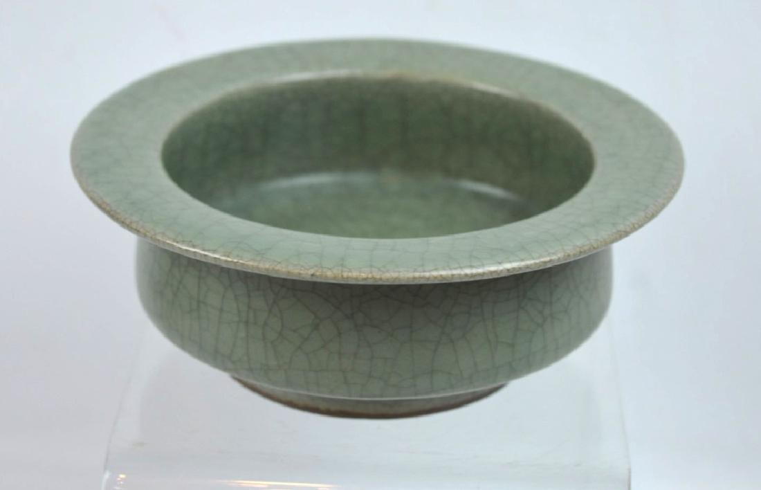 Chinese Longquan Crackle Glazed Ceramic Bowl