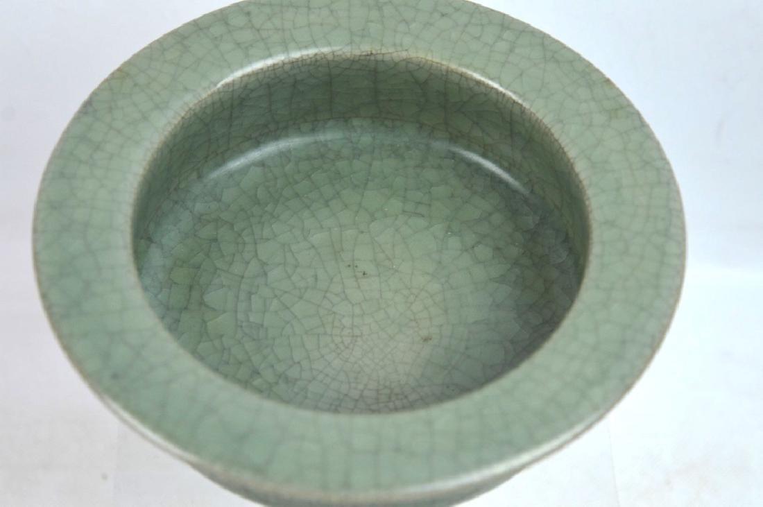 Chinese Longquan Crackle Glazed Ceramic Bowl - 2