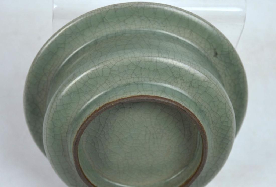 Chinese Longquan Crackle Glazed Ceramic Bowl - 3