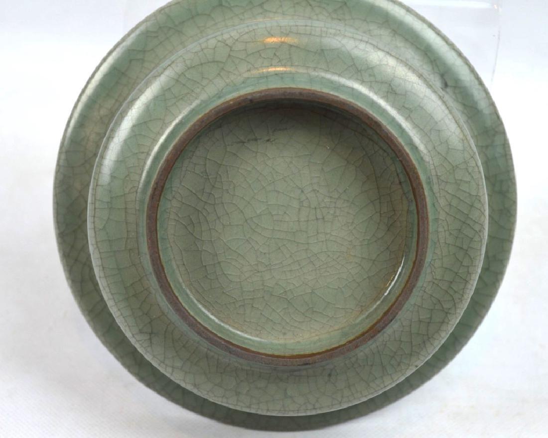 Chinese Longquan Crackle Glazed Ceramic Bowl - 4