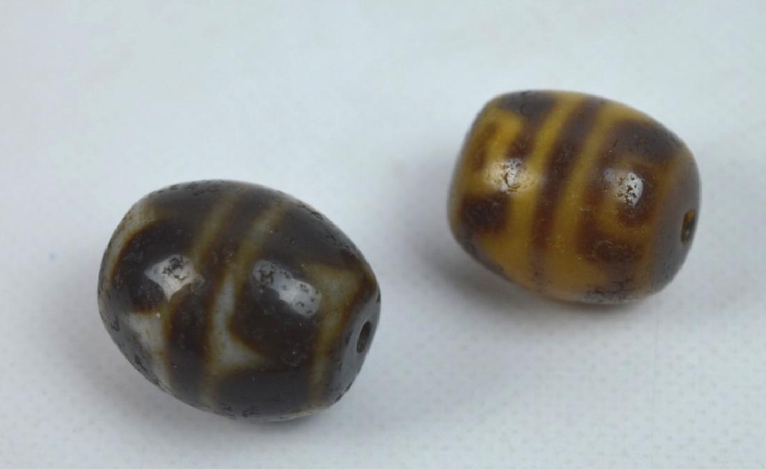 7 Antique Tibetan Dzi Beads - 2