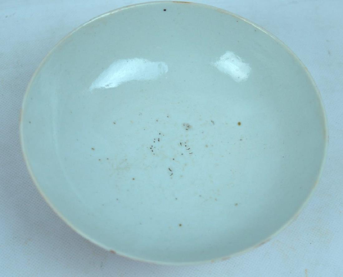 3 Good Chinese Coral Glazed Porcelain Bowls - 5