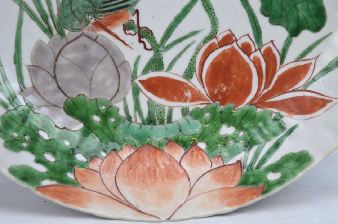 Fine Chinese Kangxi Wucai Porcelain Plate - 2