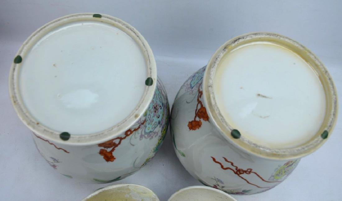 Pr Late Qing Chinese Famille Rose Porcelain Urns - 10